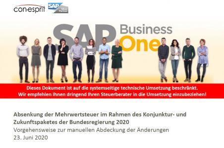 SAP Business One Konjunktur- und Zukunftspaket