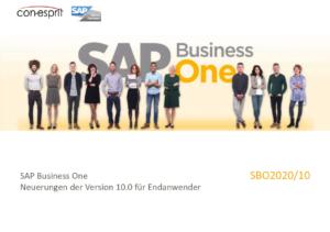 SAP Business One Neuerungen